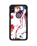 Chromatic Splatter White Otterbox Commuter iPhone Skin