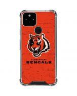 Cincinnati Bengals - Alternate Distressed Google Pixel 5 Clear Case