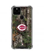 Cincinnati Reds Realtree Xtra Green Camo Google Pixel 5 Clear Case