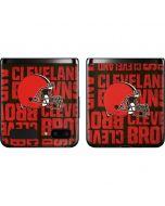 Cleveland Browns - Blast Galaxy Z Flip Skin