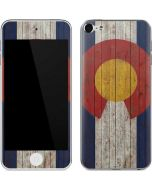 Colorado Flag Dark Wood Apple iPod Skin
