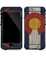 Colorado Flag Dark Wood LifeProof Nuud iPhone Skin