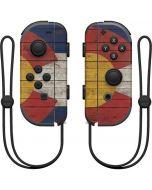 Colorado Flag Dark Wood Nintendo Joy-Con (L/R) Controller Skin