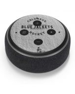 Columbus Blue Jackets Black Text Amazon Echo Dot Skin