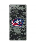 Columbus Blue Jackets Camo Galaxy Note 10 Skin