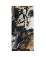 Copper and Black Marble Ink Galaxy Note 10 Pro Case