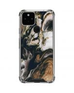 Copper and Black Marble Ink Google Pixel 5 Clear Case