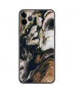 Copper and Black Marble Ink iPhone 11 Pro Max Skin