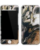 Copper and Black Marble Ink Apple iPod Skin