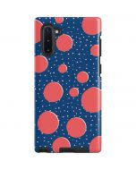 Coral Polka Dots Galaxy Note 10 Pro Case