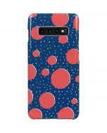 Coral Polka Dots Galaxy S10 Plus Lite Case