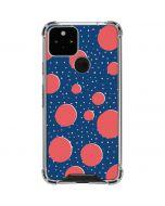 Coral Polka Dots Google Pixel 5 Clear Case