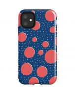 Coral Polka Dots iPhone 11 Impact Case
