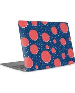 Coral Polka Dots Apple MacBook Air Skin