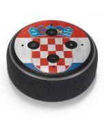 Croatia Flag Distressed Amazon Echo Dot Skin