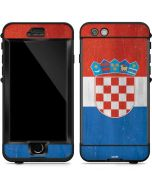 Croatia Flag Distressed LifeProof Nuud iPhone Skin