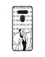 Cruella de Vil Black and White LG K51/Q51 Clear Case