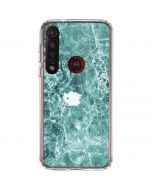 Crushed Turquoise Moto G8 Plus Clear Case