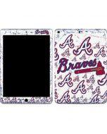 Atlanta Braves - White Primary Logo Blast Apple iPad Air Skin