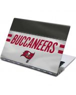 Tampa Bay Buccaneers White Striped Yoga 910 2-in-1 14in Touch-Screen Skin