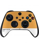 Amber Yellow Xbox Series X Controller Skin
