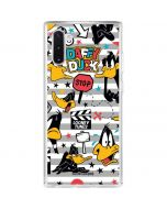 Daffy Duck Striped Patches Galaxy Note 10 Clear Case