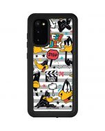 Daffy Duck Striped Patches Galaxy S20 Waterproof Case