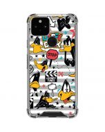 Daffy Duck Striped Patches Google Pixel 5 Clear Case