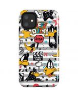 Daffy Duck Striped Patches iPhone 11 Impact Case
