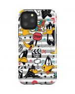 Daffy Duck Striped Patches iPhone 11 Pro Impact Case