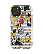Daffy Duck Striped Patches iPhone 11 Pro Max Impact Case