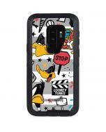 Daffy Duck Striped Patches Otterbox Defender Galaxy Skin