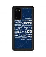 Dallas Cowboys Blast Galaxy S20 Waterproof Case