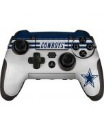 Dallas Cowboys White Striped PlayStation Scuf Vantage 2 Controller Skin