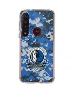 Dallas Mavericks Digi Camo Moto G8 Plus Clear Case