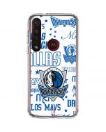 Dallas Mavericks Historic Blast Moto G8 Plus Clear Case