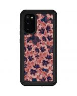 Dark Tapestry Floral Galaxy S20 Waterproof Case
