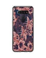 Dark Tapestry Floral LG K51/Q51 Clear Case