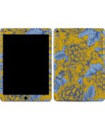 Mustard Yellow Floral Print Apple iPad Air Skin