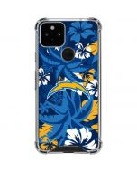 Los Angeles Chargers Tropical Print Google Pixel 5 Clear Case