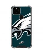Philadelphia Eagles Large Logo Google Pixel 5 Clear Case