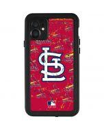St. Louis Cardinals - Cap Logo Blast iPhone 11 Waterproof Case