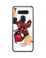 Deadpool Baby Fire LG K51/Q51 Clear Case