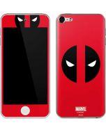 Deadpool Logo Red Apple iPod Skin