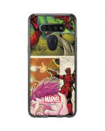 Deadpool Unicorn LG K51/Q51 Clear Case