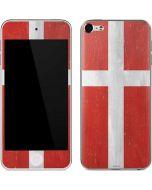 Denmark Flag Distressed Apple iPod Skin