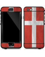 Denmark Flag Distressed LifeProof Nuud iPhone Skin