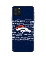 Denver Broncos Blue Blast iPhone 11 Pro Max Skin