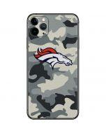 Denver Broncos Camo iPhone 11 Pro Max Skin