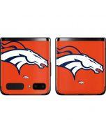Denver Broncos Large Logo Galaxy Z Flip Skin
